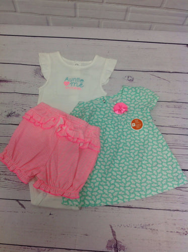 JUST ONE YOU WHITE & BLUE 3 PC Outfit