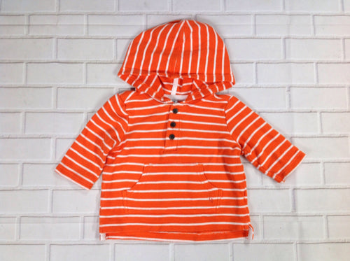 Janie & Jack ORANGE & WHITE Top