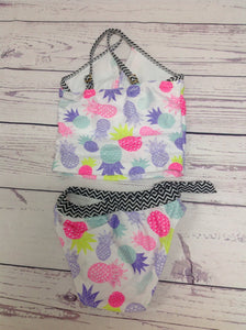 Jantzen White Print Pineapple Swimwear