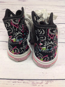 Joe Boxer Black Print Sneakers