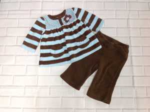 Just One Year Brown & Blue 2 PC Outfit