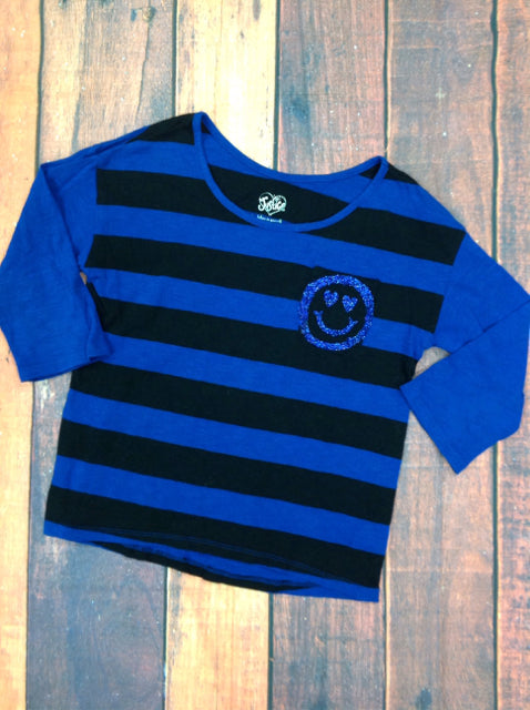 Justice BLUE & BLACK Top