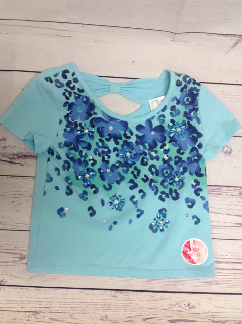 Justice Blue Print Top