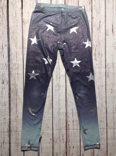 Justice Mint Green & Gray Leggings
