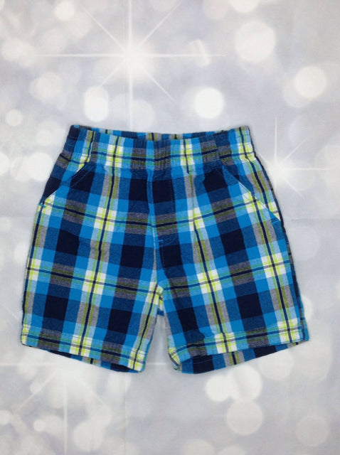 Kidgets Blue & Green Plaid Shorts