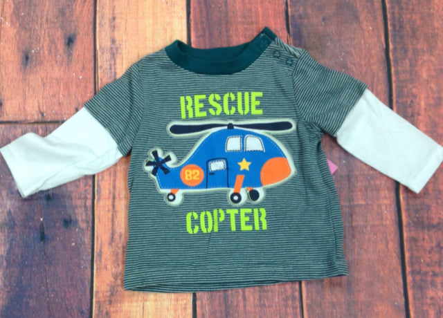 Kids Headquarters GRAY PRINT Top