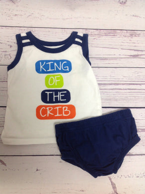 Koala Baby White & Navy 2 PC Outfit