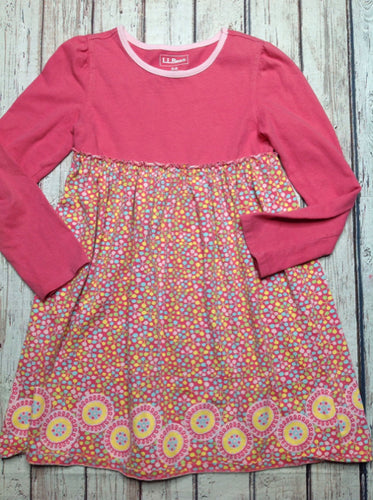 LL Bean LIGHT PINK & BLUE Dress