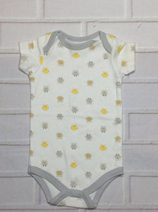 LOVEABLE FRIENDS Yellow & Gray Top