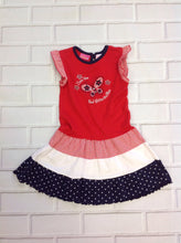 Little Lindsey RED, WHITE & BLUE Dress