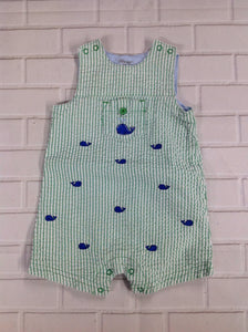 Little Me Green Print One Piece