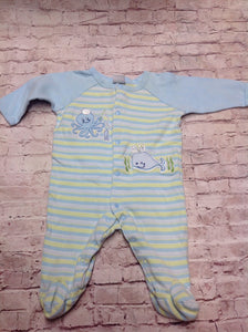 Little Me Light Blue & Green One Piece