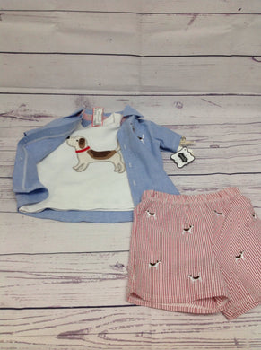 MUDD PIE Blue & Red 3 PC Outfit