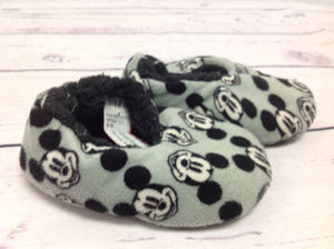 Mickey Mouse Gray & Black Slippers