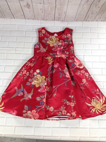 Monsoon Red Print Dress