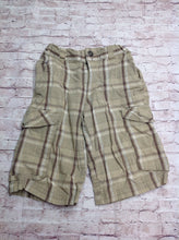 Mossimo Beige & Brown Stripes Shorts