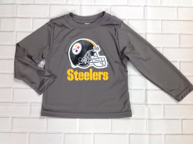 NFL TEAM APPAREL GRAY PRINT Top