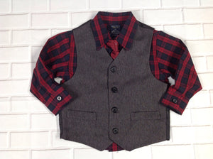 Nautica RED & GRAY Top