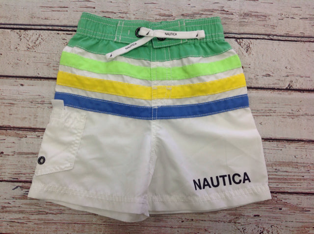 Nautica White & Green Swimwear
