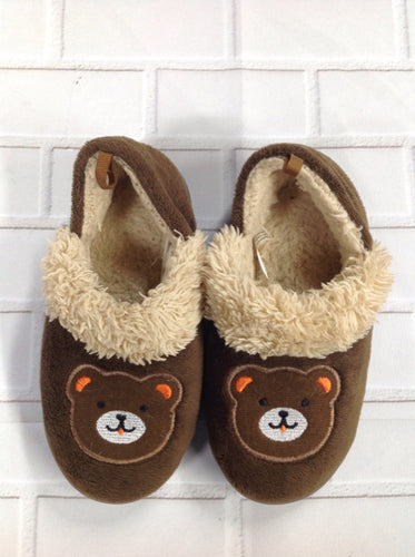 *No Brand Brown Print Slippers