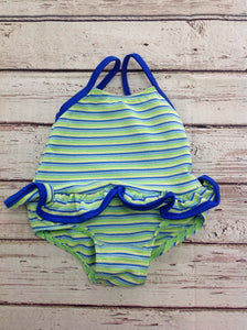 No Brand Green & Blue Swimwear