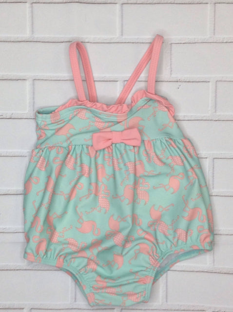 No Brand Green & Pink Swimwear