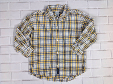 Old Navy BLUE & YELLOW Plaid Top