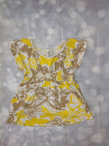 Old Navy Brown & Yellow Top