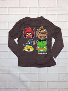 Old Navy Brown Angry Birds Top