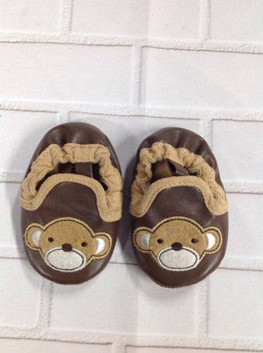 Old Navy Brown Print Slippers