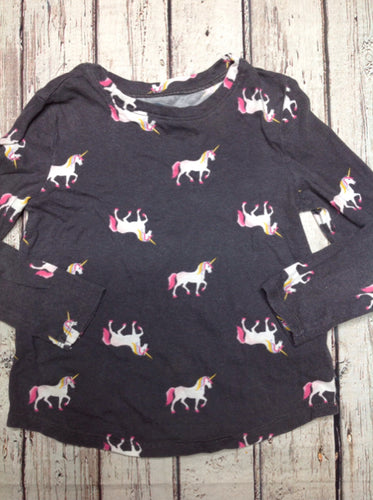 Old Navy Gray & Pink Unicorn Top
