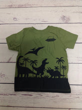Old Navy Green Print Top