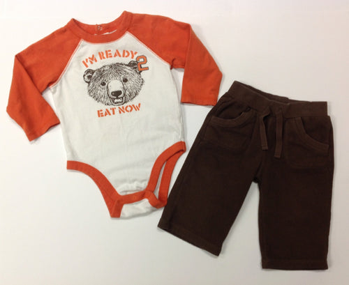 Old Navy ORANGE & BROWN 2 PC Outfit