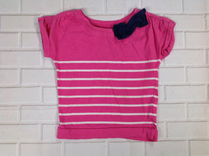 Old Navy PINK PRINT Stripe Top