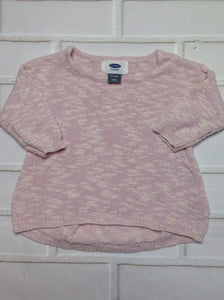 Old Navy Pink & Cream Sweater