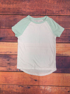Old Navy White & Green Top