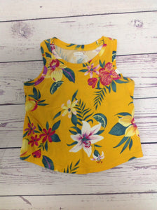 Old Navy Yellow Print Top