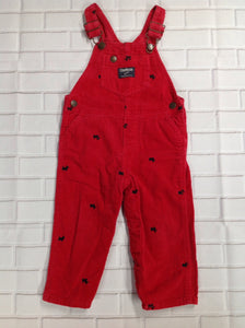 Oshkosh Red & Black Overalls