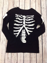 PLACE Black & White Skeleton Top