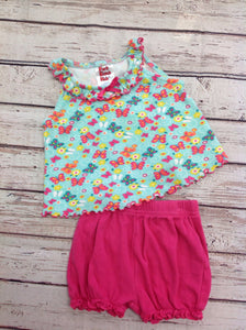 Park Bench Kids Blue & Pink 2 PC Outfit