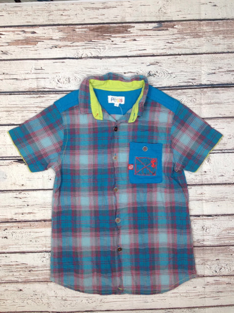 Petits  Blue & Red Plaid Top