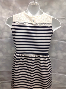Poof Girl Navy Print Dress