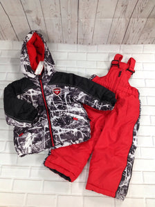 Protection System Black & White Snowsuit