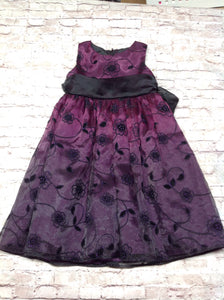 Rare Editions Purple & Black Dress