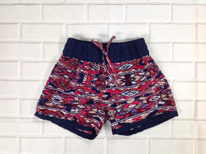 Real Love Navy Print Shorts