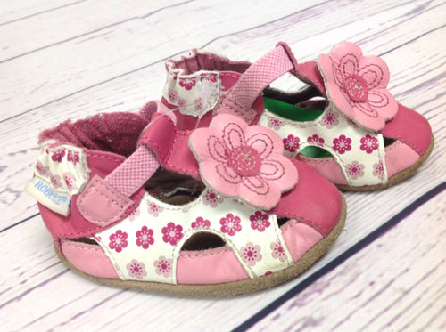 Robeez Pink & White Shoes