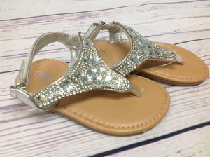 Rugged Bear Silver Sandals