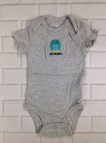 Simple Joy GRAY PRINT Onesie