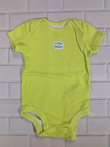 Simple Joy Green Print Onesie
