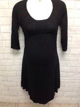 Size 12 Next Maternity Black Cotton Blend Dress